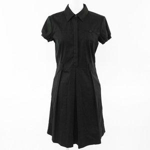 Theory Half Button Down Short Sleeve Trena Dress